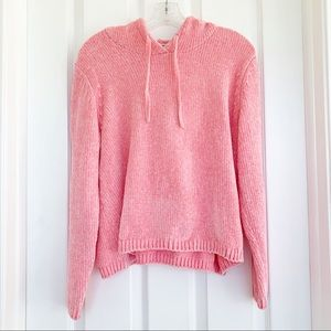 {Cotton Emporium} Pink Fuzzy Hoodie | XS
